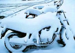 Schnee Motorrad